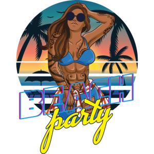 Beach Party - Funny Travel Vacation Trip