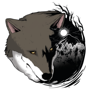 Wolf Wildnis Vollmond