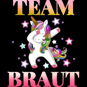 Einhorn Team Braut