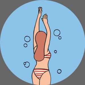 Spreequell Schwimmerin
