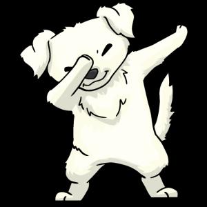 Great Pyrenäen Hund Dabbing Kawaii