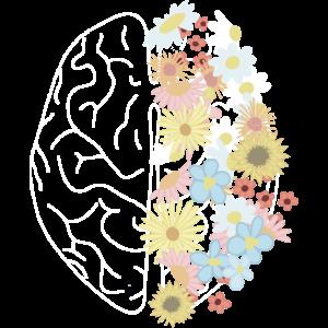 Gehirn Blumen Brain Medizin Natur Arzt Ärztin
