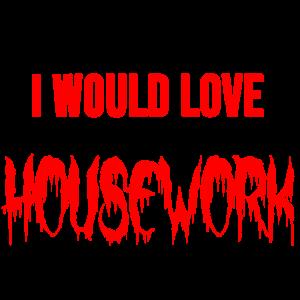 Hausfrau Hausarbeit Hausmann hassen Geschenk