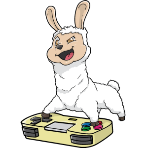 Lama Gamepad Kawaii