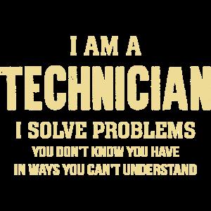 Lustiger Techniker - Ich löse Probleme