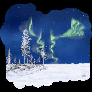 Winter mit Nordlichtern