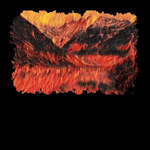 Brennende Berge Berglandschaft Geschenk
