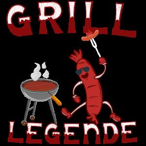 Grill Grillen Grillwurst Angrillen Grill Legende