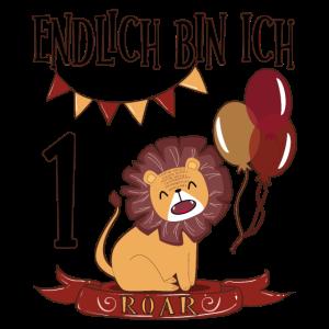 1 Geburtstag Löwe Luftballons ein Jahr Geschenk