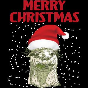 Mit Alpaka Alpaca Lam Lama Merry Christmas Schnee