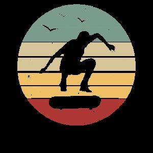 Retro Skateboard Skater - Skatepark Skateboarder