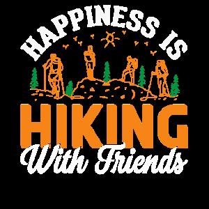 Glück ist Wandern mit Freunden