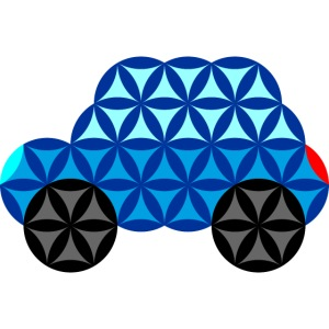 The Car Of Life - 01, Sacred Shapes, Blue.