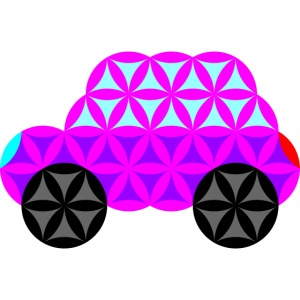 The Car Of Life - 01, Sacred Shapes, Purple.