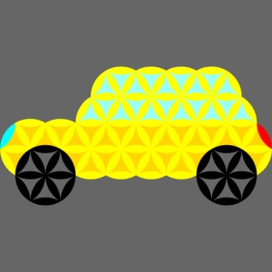 The Car Of Life - 02, Sacred Shapes, Yellow.