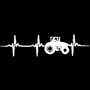 Traktor Trekker Herzschlag EKG Puls