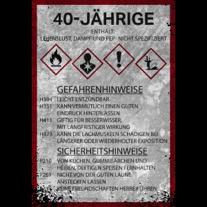 Warnschild Frau 40 Geschenk Geburtstag Sprüche Fun
