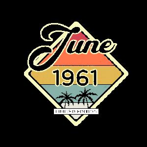 Vintage Juni 1961 60 Jahre Alt 60. Geburtstag