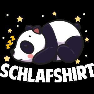 Panda Schlafshirt Nachthemd