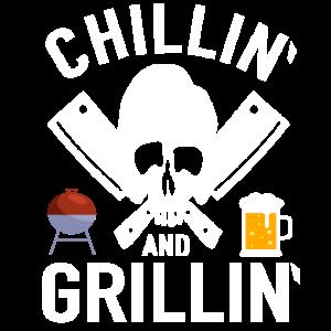 Chillin and Grillin Barbecue Totenkopf BBQ Grillen