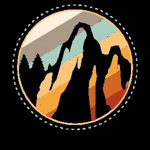 Retro Berge Wandern Bergsteigen Bergliebhaber Natu