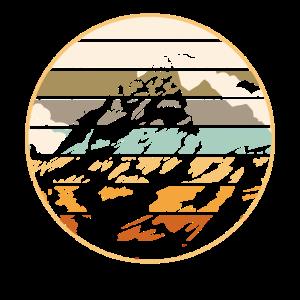 Vintage Berge Wandern Bergsteigen Bergliebhaber Ge