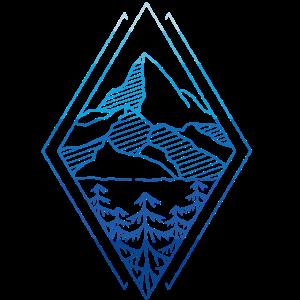 Geometrie Berge Wandern Bergliebhaber Geschenkidee