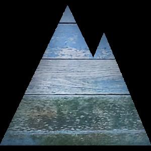 Berge, Geometrisch, Wandern, Retro, Landschaft