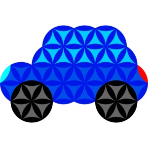 The Car Of Life - M01, Sacred Shapes, Blue/R01.