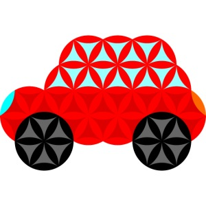 The Car Of Life - M01, Sacred Shapes, Red/R01.