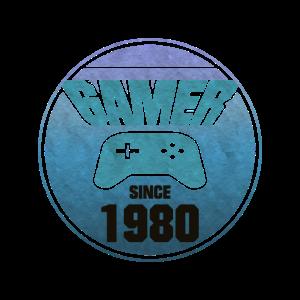 1980 Geboren Gamer Geburtstag Gaming