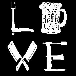 BBQ Love Bier - Barbecue Grillen Grill Master