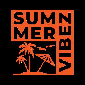 Summer Vibez T shirt Design Orange