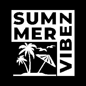 Summer Vibez T shirt Design White