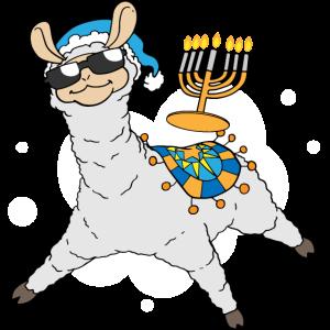 Menorah Chanukka Lama süßes Alpaka Chanukka