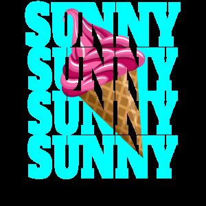 Sunny Eistüte Eiscreme Sommerurlaub Softeis