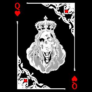 Kartensymbole Spielkarten Herz Dame Kartenspiel