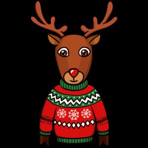 Weihnachten Rentier Rudolf