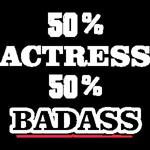 Lustige Badass Schauspielerin