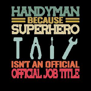 Handwerker Mechaniker Superhero retro handyman