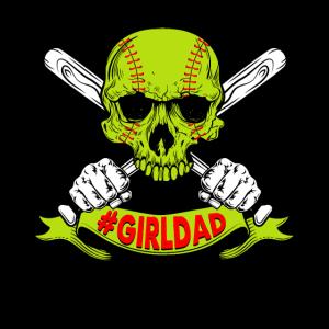 Girl Dad Softball Skull