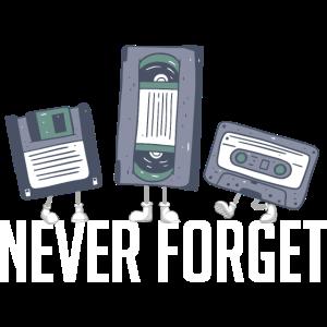 Never Forget 80er 90er Retro Technik Diskette