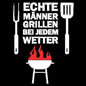 Echte Männer Grillmeister Grill Grillen Geschenk