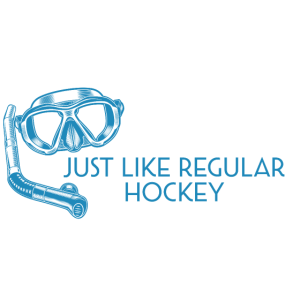 Unterwasser-Hockey Nur ein normales Hockey, aber f