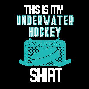 Dies ist mein Unterwasser-Hockey-Shirt Vintage Wor