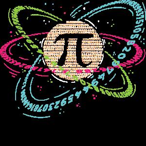 Atom Pi Math Science Gift 3.14 Pi Day