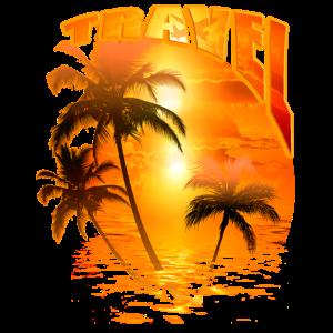 Urlaub Palmen Sonnenaufgang