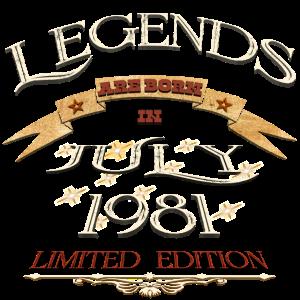 Die Legenden wurden im Juli 1981 geboren