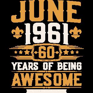 Jahrgang Juni 1961 geboren 60. Geburtstag