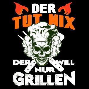Grillen BBQ Fleisch Totenkopf